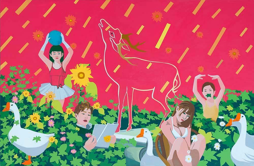 Deer by Shi Yanliang