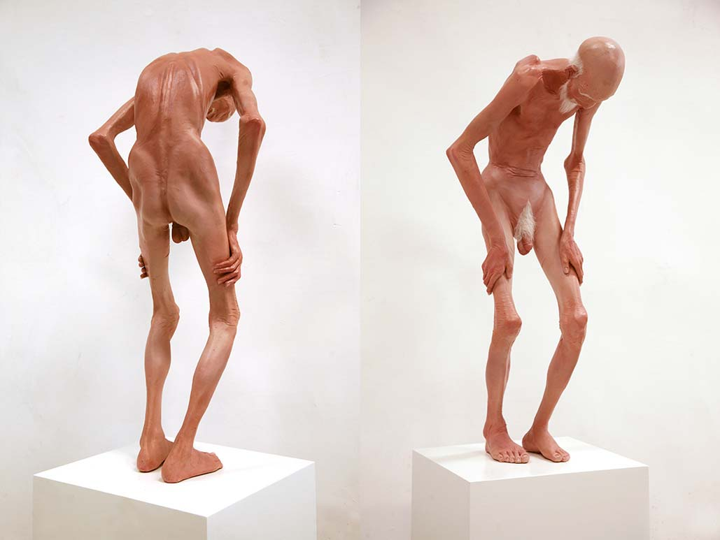 Cai Lei Old Man Sculpture